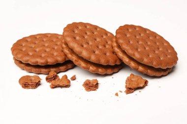 Tasty cookies with crumbs