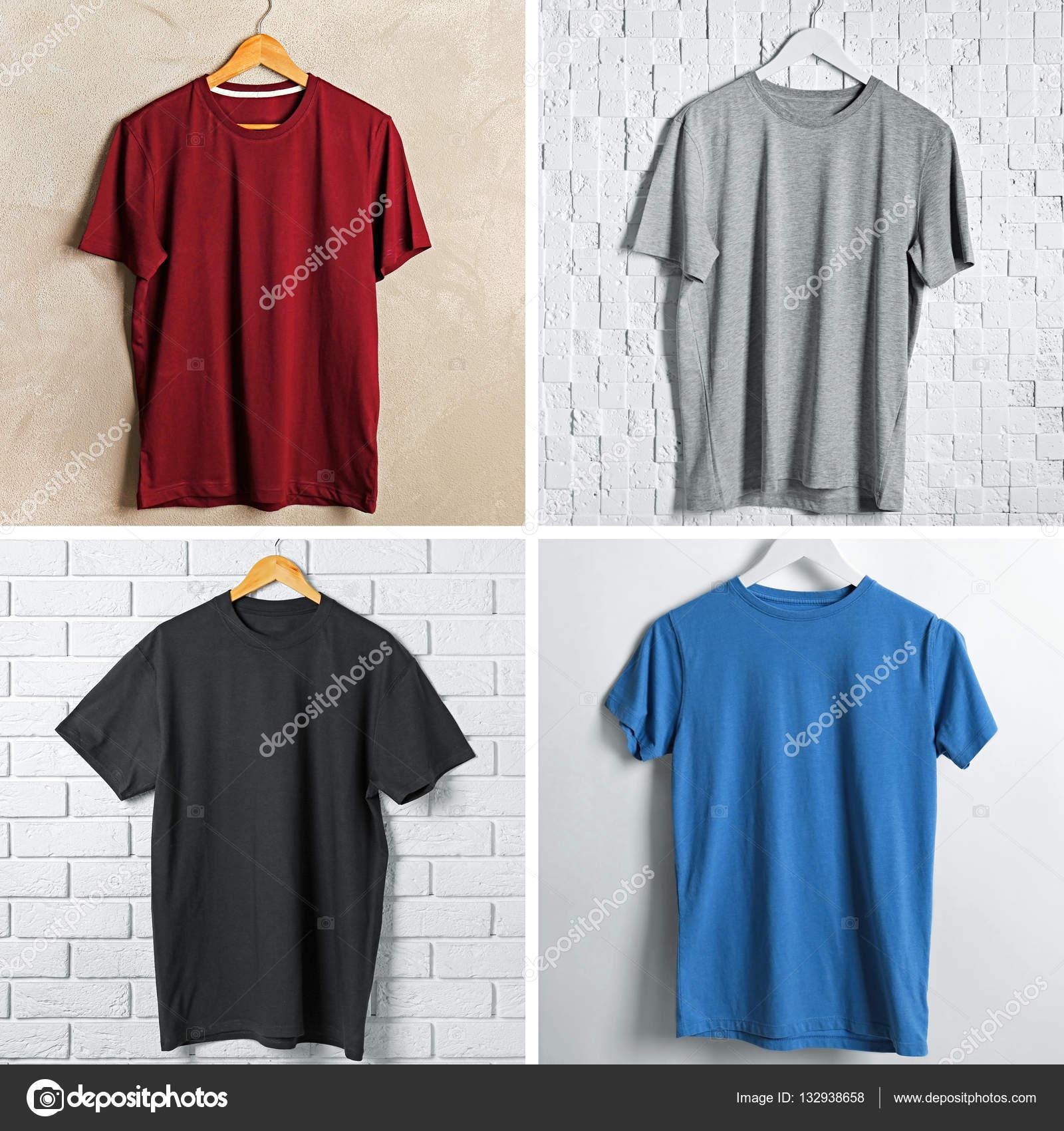 e5b01ef80f38 Κολάζ από μοντέρνα μπλουζάκια — Φωτογραφία Αρχείου © belchonock ...