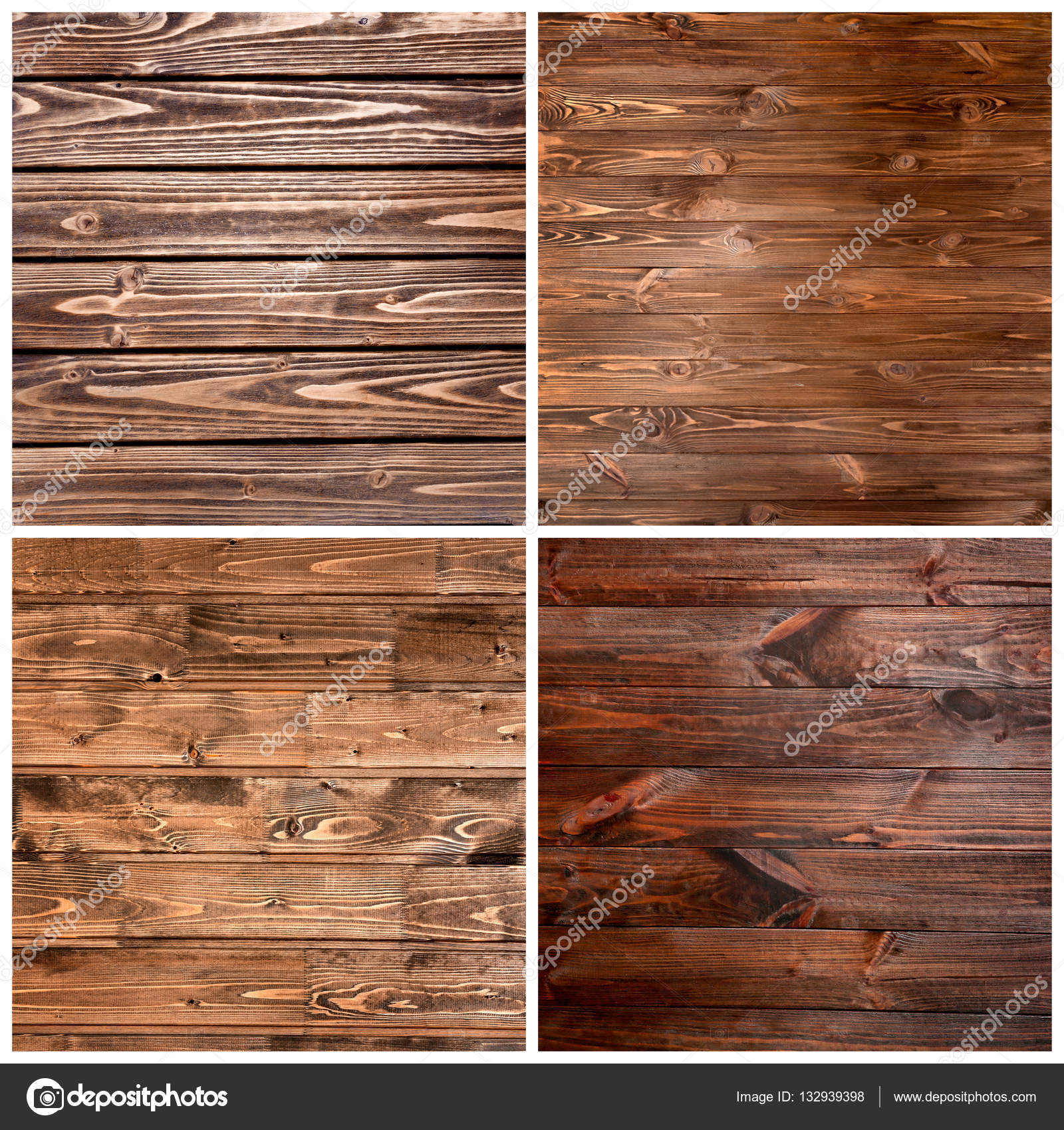 Collage of wooden textures — Stock © belchonock
