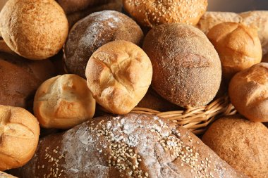 Lot of different bread