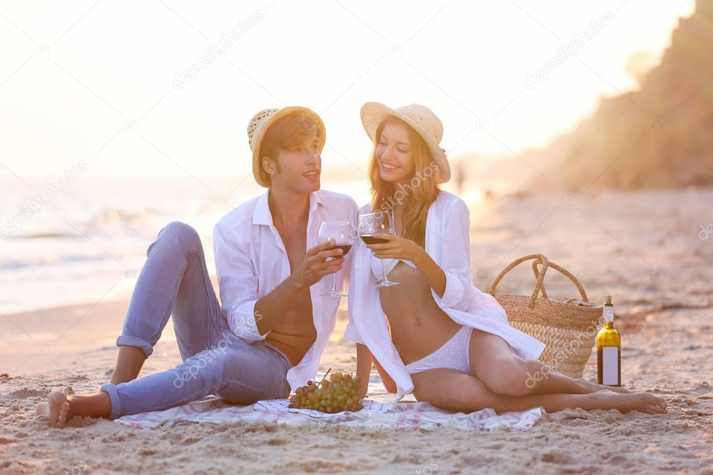 couple having date