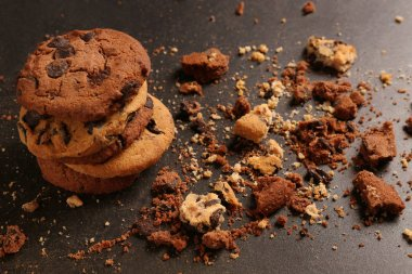 Tasty cookies with chocolate