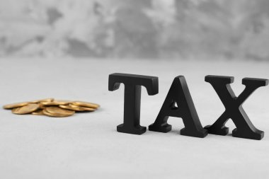 Tax concept with coins