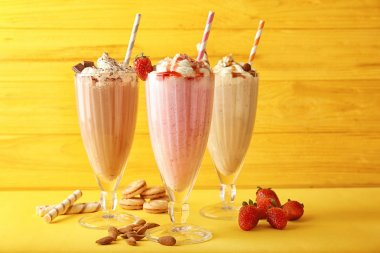 three Delicious milkshakes