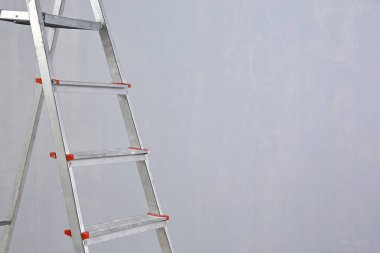 Ladder standing in room