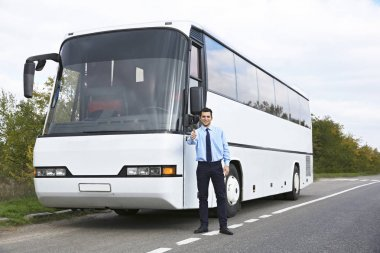 Driver in front of bus