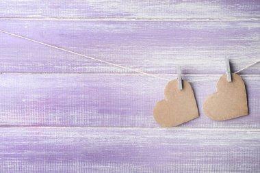 Decorative hearts hanging