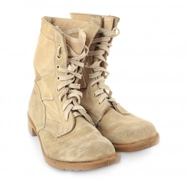 beige Military boots