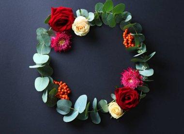 Beautiful flowers wreath