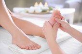 Fotografie Foot massage in spa salon