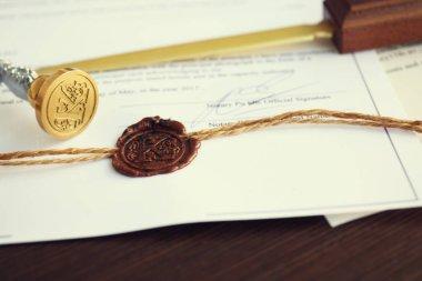 Old notarial wax seal