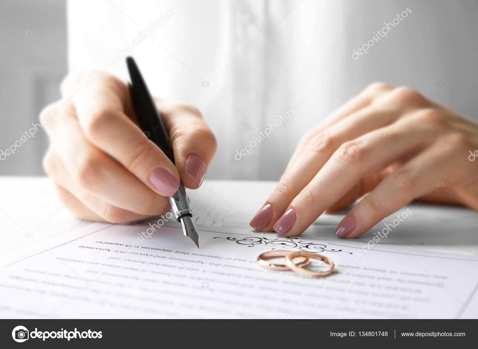 Signing marriage contract stock photo belchonock 134801748 signing marriage contract stock photo altavistaventures Choice Image