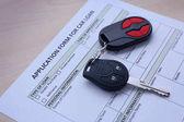 Formulář žádosti o půjčku na automobil