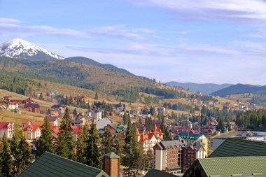 Beautiful modern resort in mountains