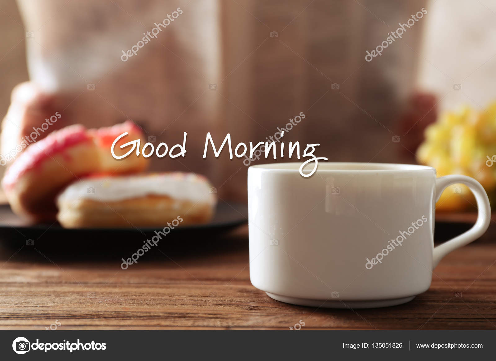 Dzień Dobry Tekst Zdjęcie Stockowe Belchonock 135051826