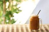 Fényképek Jeges kávé üvegedénybe
