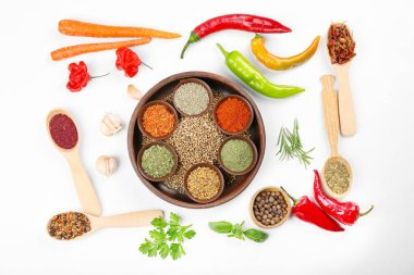 Spices, vegetables and herbs