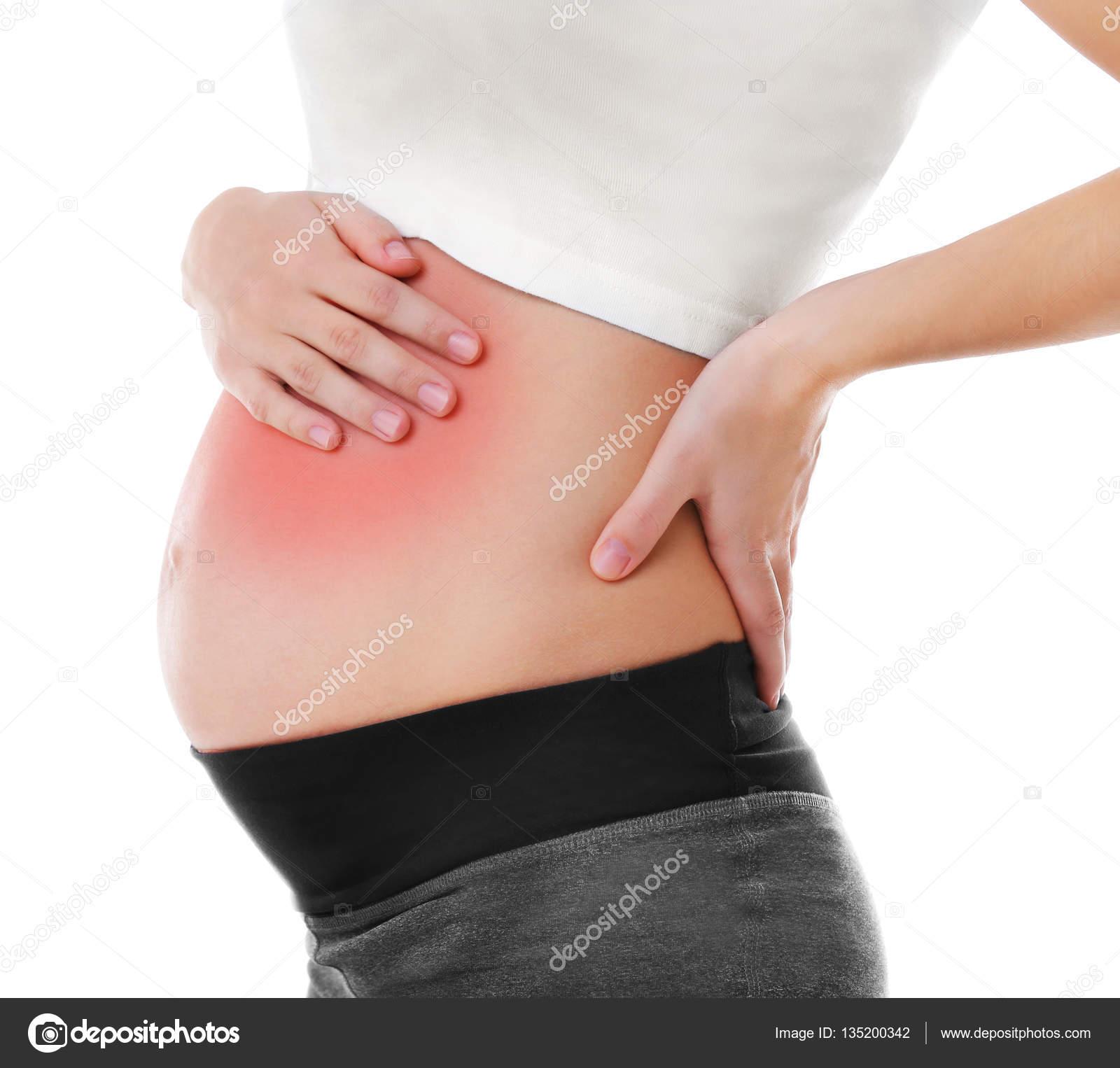 Zwangere Vrouw Met Buikpijn Stockfoto Belchonock 135200342