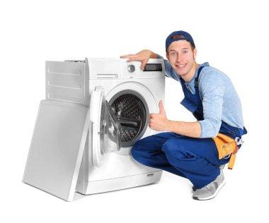 Plumber with washing machine