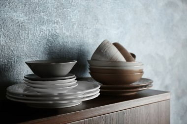 Set of modern dinnerware