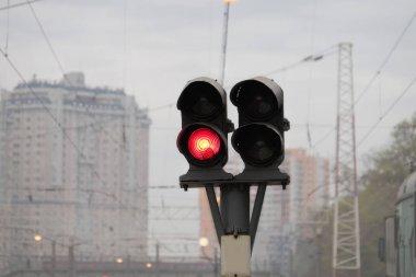 Traffic light on railway station