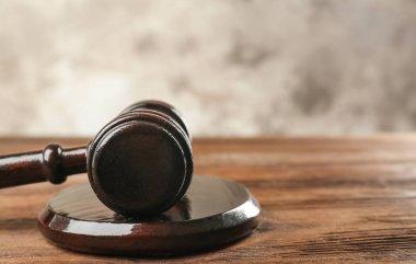 Court gavel and sound block
