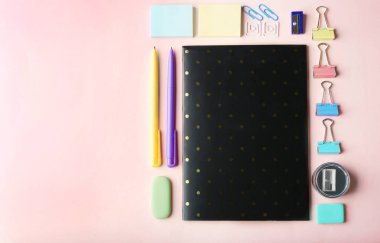 Colorful school stationery
