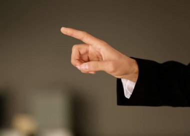 hand with finger pointing