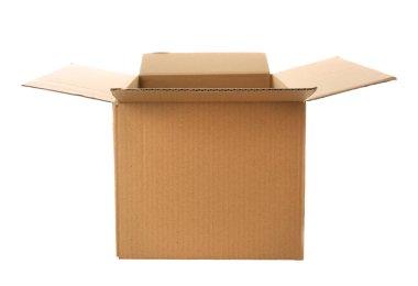 Opened carton box