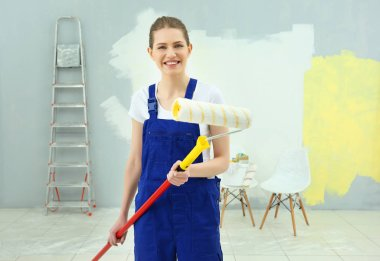 Young female decorator