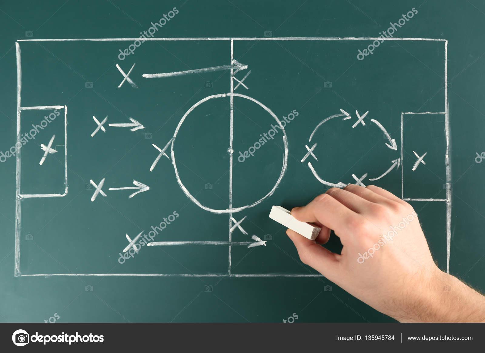 Рисовать схему футбола