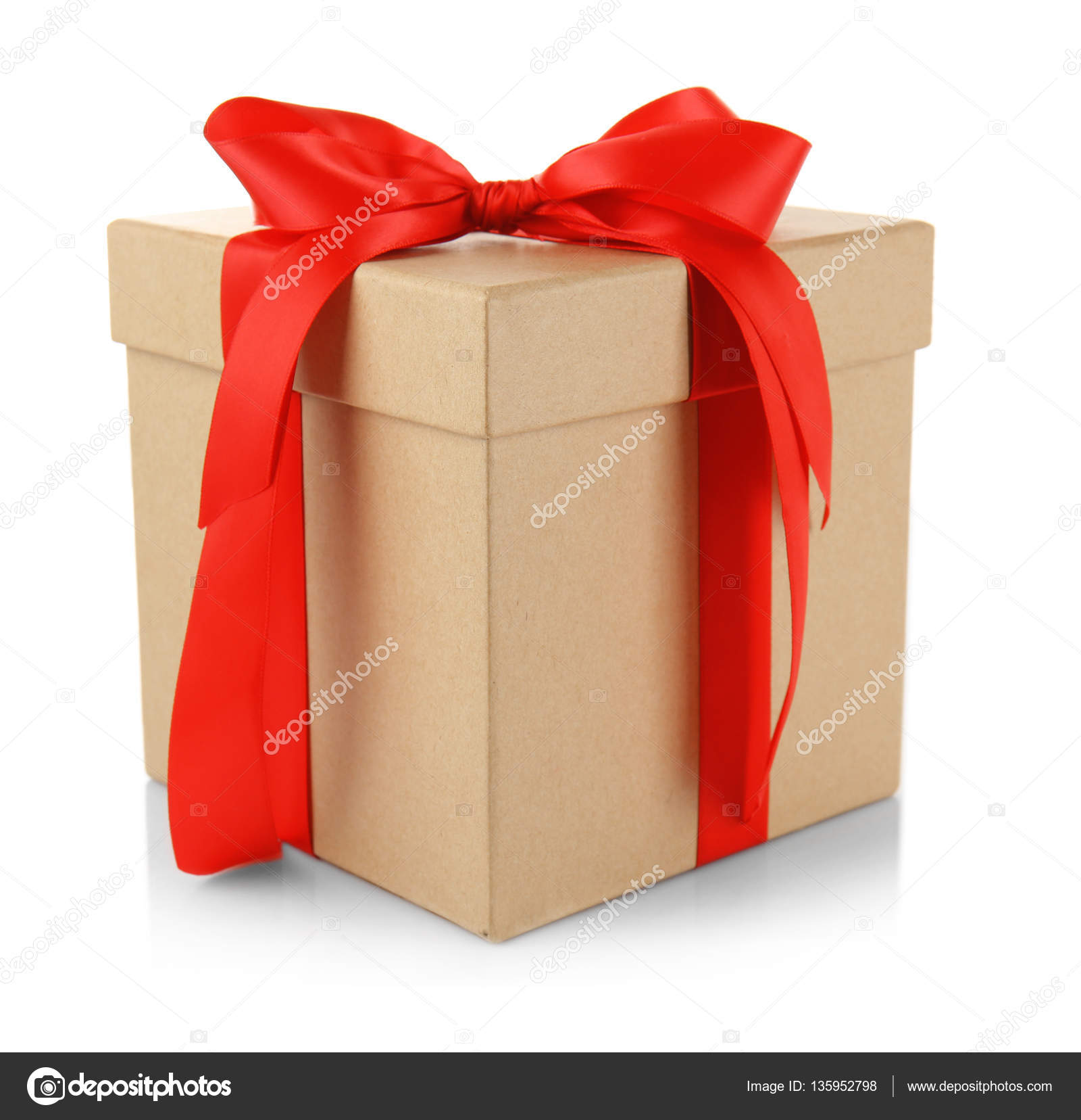 Gift box with bow Big Gift Box With Bow Stock Photo Depositphotos Gift Box With Bow Stock Photo Belchonock 135952798