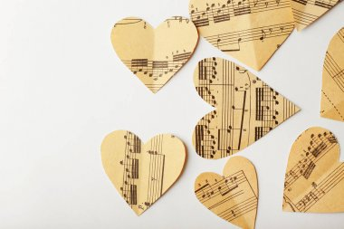 Paper hearts with notes