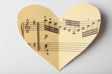 Paper heart with notes