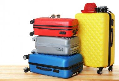 Colourful traveler cases