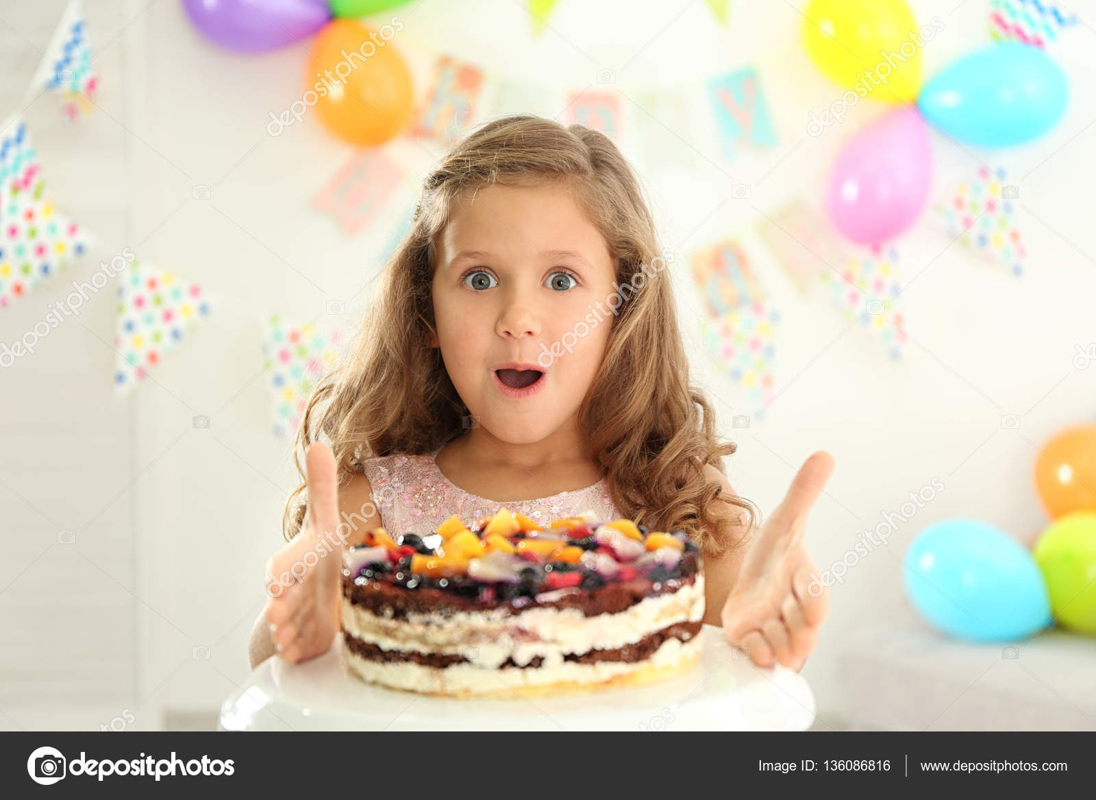 Prime Funny Little Girl Birthday Cake Home Stock Photo C Belchonock Funny Birthday Cards Online Elaedamsfinfo