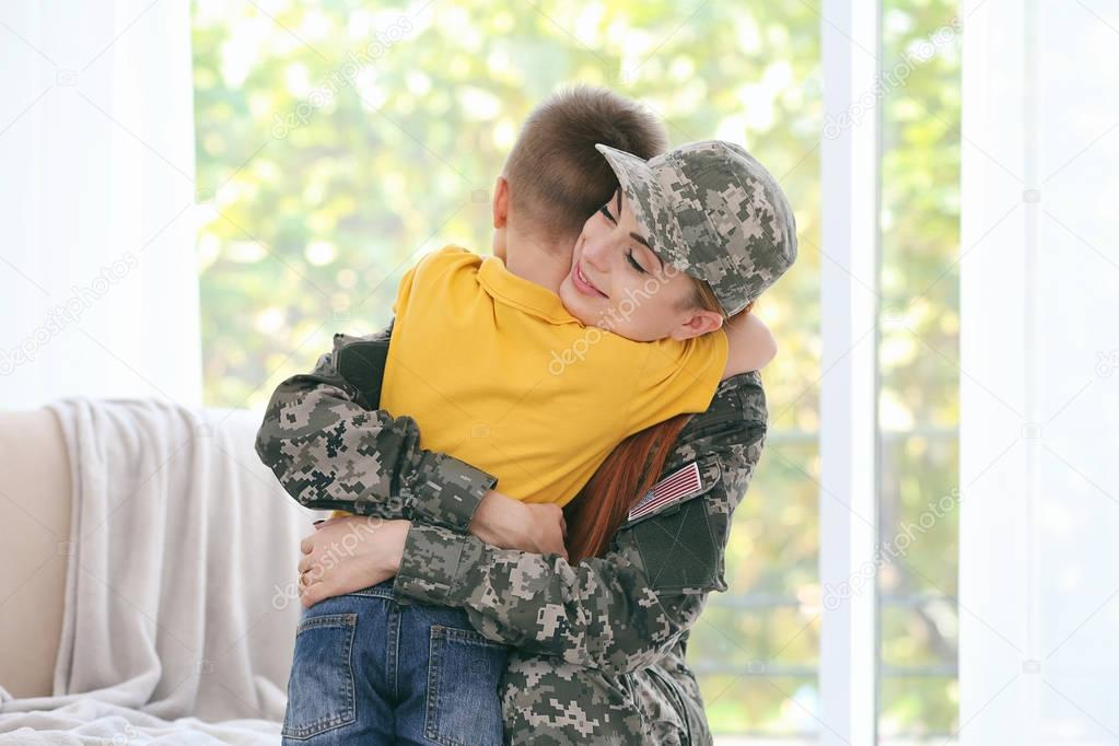 Soldier reunited with family