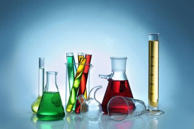 Chemical flasks and test-tubes