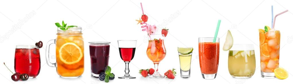 Delicious cocktails set