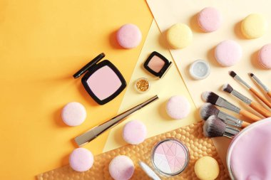 Makeup products with cosmetic bag