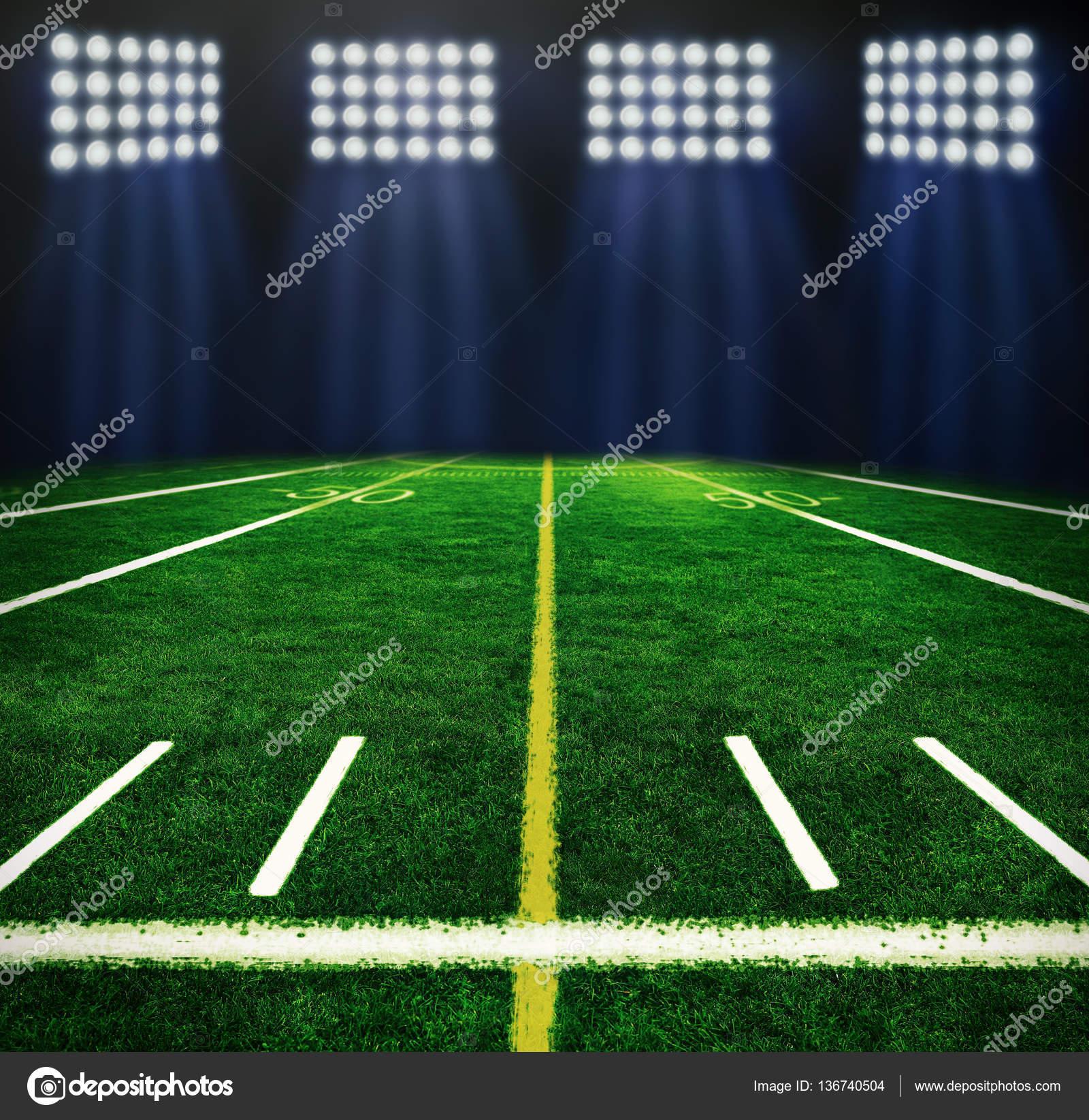 Cancha de fútbol iluminada en la noche - fotos  canchas de futbol — Foto de  belchonock — Foto de ... a1b2aa31215b2
