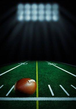 Illuminated football field