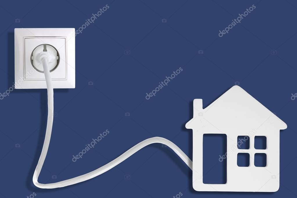 Socket with plug and home