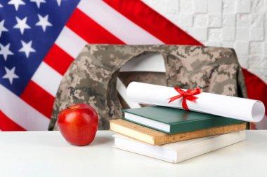 USA military education concept