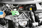 Fotografie Detailní záběr auto motor