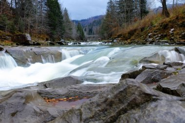 Mountain river flowing