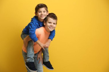 Cute little brothers