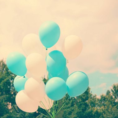 bunch of Colorful balloons