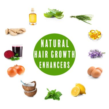 Natural hair growth enhancers