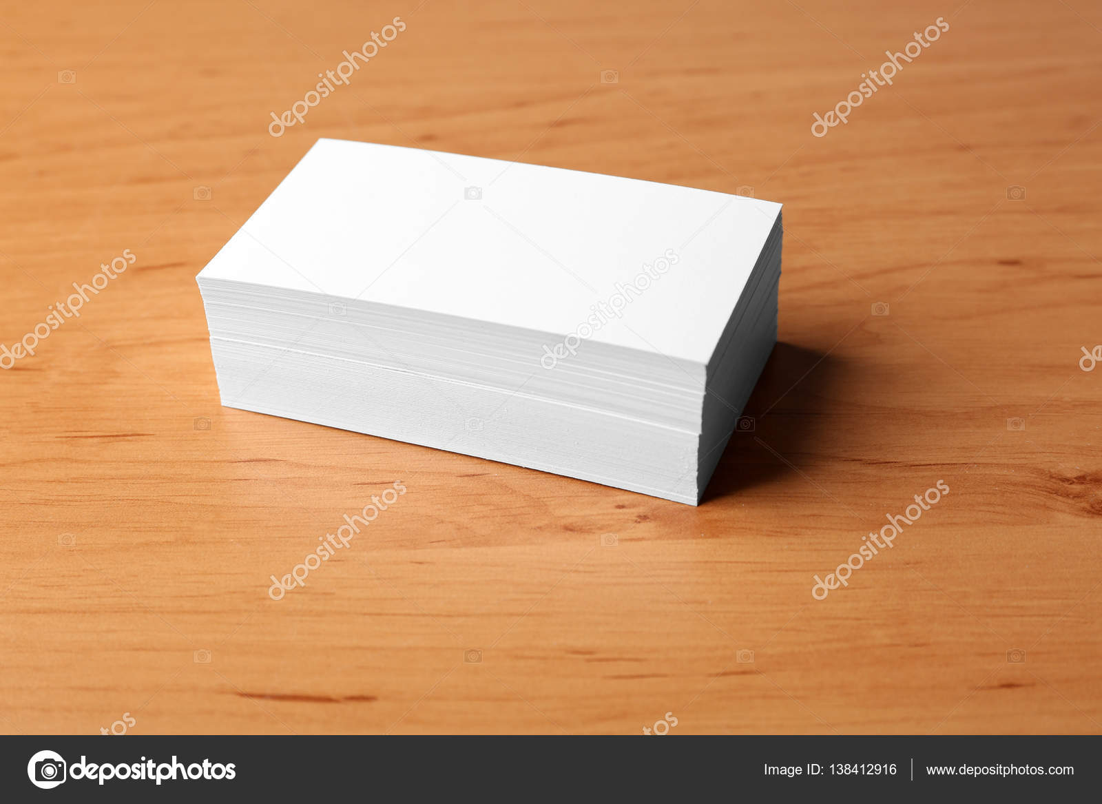 Pile of business cards — Stock Photo © belchonock #138412916